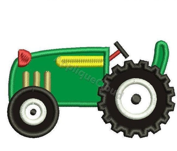 Embroidery Of Tractors : Tractor applique design pattern instant