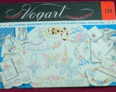 Vogart Vintage Unused Embroidery Transfers for Pillow Cases, Scarves, Clothes  Embroidered Gifts #148