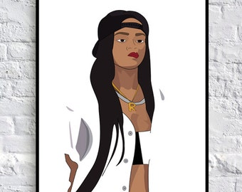 Modern Digital Rihanna colour Print 2304x3451PIXELS