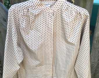 Vintage 1970's Womens Blouse Shirt Size 8