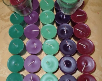 Triple Scented soy votive candles (6 count + 1 holder)