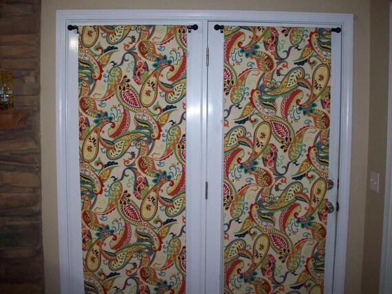paisley door panels custom foyer rod pocket by windowtoppings. Black Bedroom Furniture Sets. Home Design Ideas
