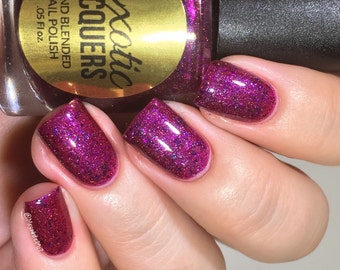 CRANSICLE  - Holo Cranberry Red Jelly polish with Purple Flakes