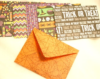 Handmade Envelopes - HALLOWEEN prints