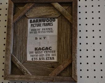 Rustic Barnwood 5 X 7 Boxed Barnwood Picture Frame