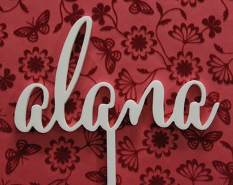 Personalised Cake Topper Wooden Acrylic Sign Australia
