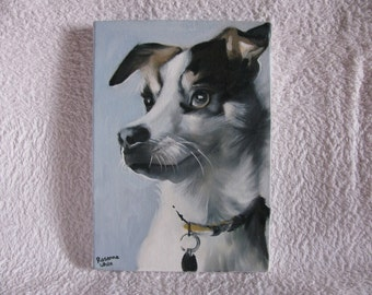 Original oil painting of a Jack Russel Dog.
