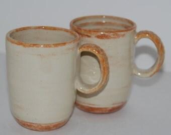 handmade pottery mug set. handmade ceramic mug set.