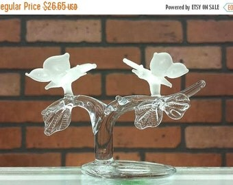 ON SALE Vintage crystal butterflies on a branch
