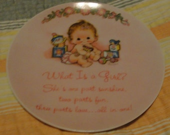 Sweet Baby Girl Collector Plate