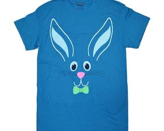 Tees2urdoor Blue Easter Bunny T-Shirt
