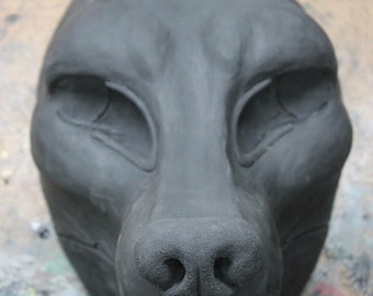 Realistic Canine Resin Fursuit Head Base