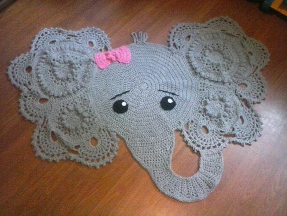 Crochet elephant rug by TinaCreations24 on Etsy