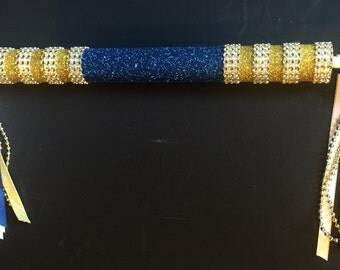 Cheerleading Spirit Stick - Blue and Gold