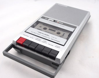 Vintage Realistic CTR-70 Cassette Recorder, AC/Battery Cassette Recorder Player