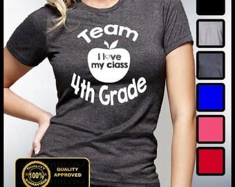TEAM 4TH GRADE Shirt, Back To School Tees, Teacher T-shirts, School Shirts, Pre-K, 2nd Grade, Classroom T-shirts