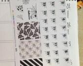 Spider Web Corner Countdown Planning Reminder Stickers - Erin Condren, KikkiK, Filofax Planners and Midori Notebooks  2076