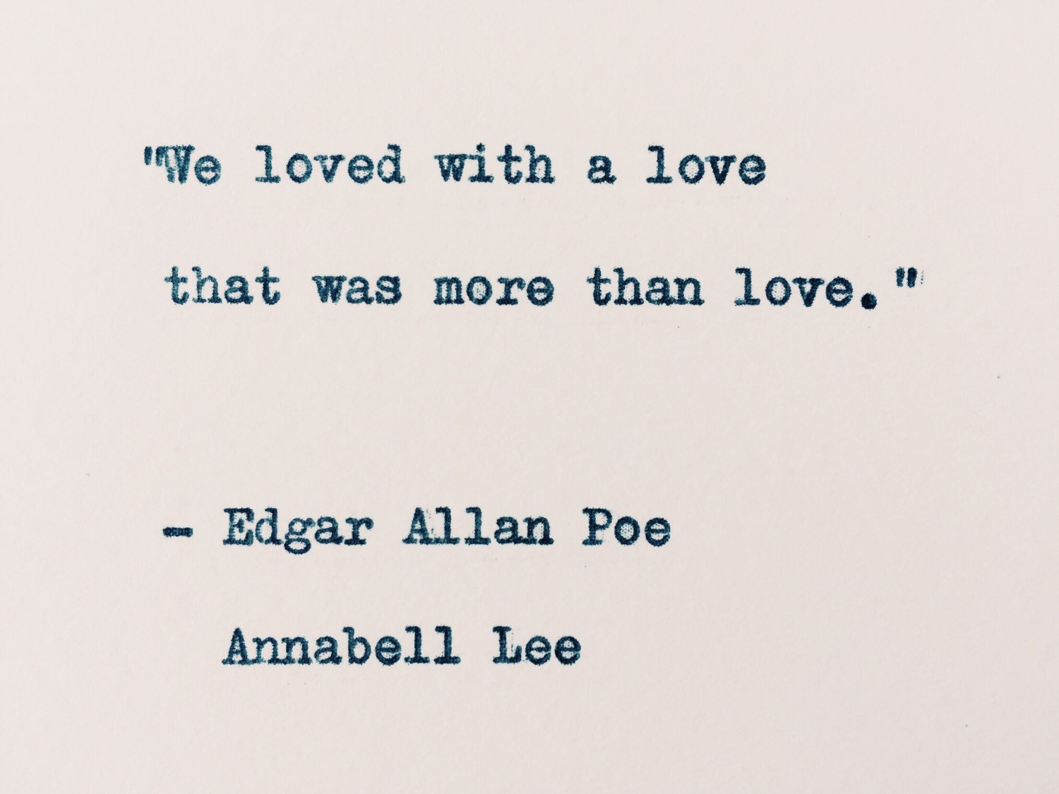 "the theme of love in edgar allan poes annabell lee ""annabel lee"" and ""the raven"" are two poems by the famous poet edgar allan poe as much as they differ the two poems have distinct similarities in that the speaker in both of the poems is talking about a lost love, the speakers in the two poems are depressed over the death of a beautiful woman."