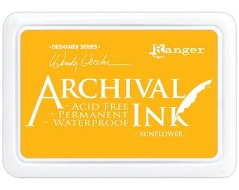 Ranger Wendy Vecchi Designer Series Archival Ink Pad, Sunflower, #AID49005