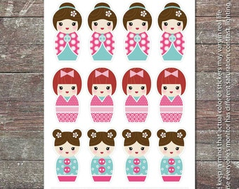 Japanese Doll 02 - Planner Stickers