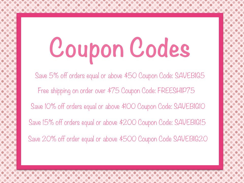 Etsy coupon code create