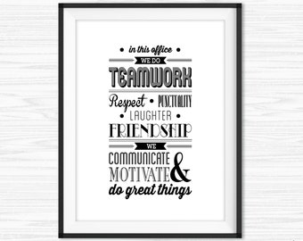 Teamwork Quotes For Office In This Office Quote Inspirational Office Wall  Art Motivational Wall Decor Printable