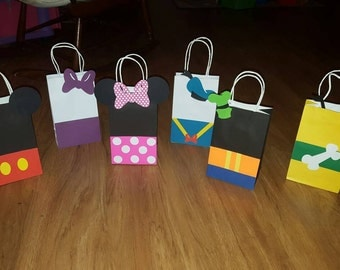 12 Mickey Mouse Clubhouse Party Favor Bags