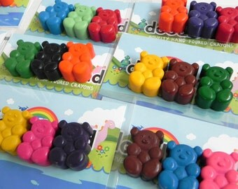 Teddy Bear Crayon Party favours | 10 individual Party Favours | Teddy Bears Picnic | Birthday Party | Party Favours | Party Bag Filler | Toy