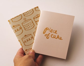 GOLD - Piece of Cake notebook pack of 2