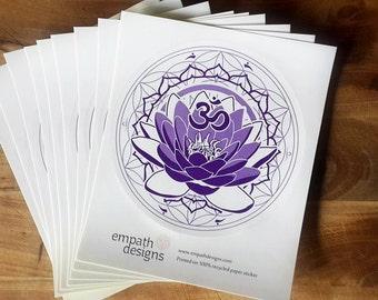 Lotus - Crown Chakra Sticker