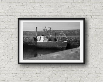 Fishing Boat - Black & White Photography