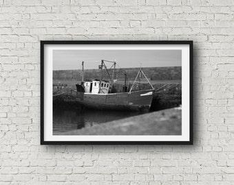 Fishing Boat - Black & White Photography