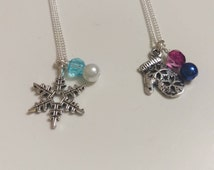 Disney's Elsa and Anna inspired necklaces - Frozen sister necklaces