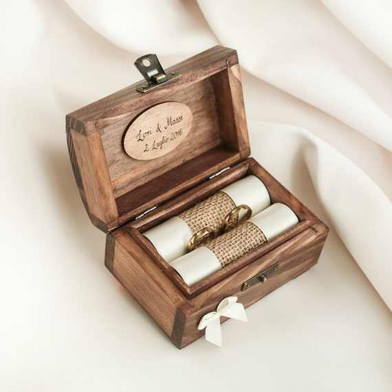 personalized wedding ring box wooden ring box ring holder