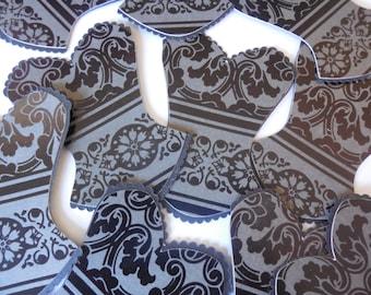 Set of 10 Corset Cutouts- Table Decorations-Lingerie Cutouts-Bachelorette Party-Lingerie Shower Decorations-Bachelorette Party Decor