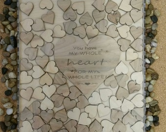 Wedding guestbook, Shadow Box Guest Book, Anniversary, Birthday, sweet 16