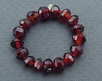 Garnet bead ring size 7.5