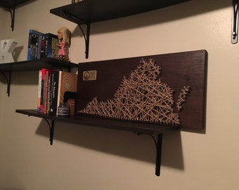 Large Virginia String Art with Plaque