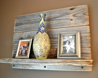 Rustic Shelf Made From Reclaimed Shipping Pallets