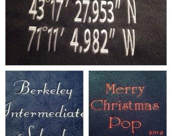 Throw Blanket - Personalized Fleece Throw Blanket - Personalized Quilt - Embroidered Blanket - Monogrammed Throw Blanket - Housewarming Gift