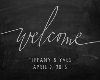 Welcome Sign #1 - Canvas Print (Chalkboard)