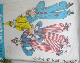 Vintage Clown Costume Pattern Children