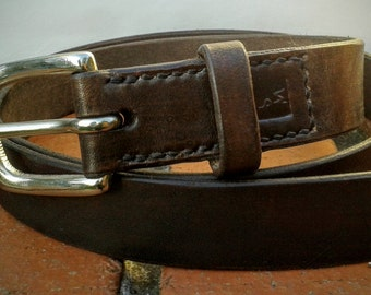 Leather Belts - Natural, Solid, British and Hand-stitched