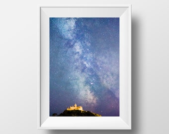Milky Way over Cornwall / St Michael's Mount / Stars / Night Sky / Galaxy / Astrophotography / Kernow / Galaxy