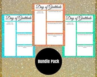 Gratitude Journal - Digital Journal - Meditation Journal - Gratitude Worksheets - Gratitude Prints - Printable Worksheets -Meditation Prints