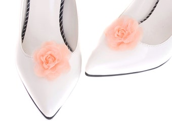 Small Pink Flower Shoe clips, Wedding Bridal Flower Shoe clip, Shoe Charm Ornaments Clips - sh31