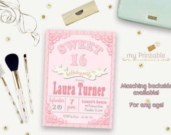 Sweet 16 Invitation / Printable