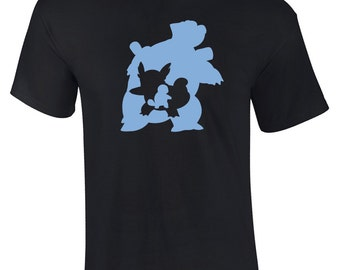 Squirtle Evolution Silhouette Graphic T-Shirt