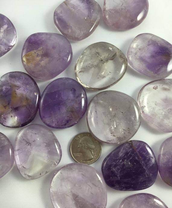 Beautiful Tumbled AMETHYST Healing Gemstone// Exellent Quality// Amethyst Pillows// Tumbled Stones// Healing Crystals// February Birthstone