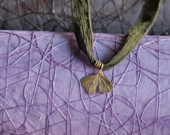 Gingko leaf brass